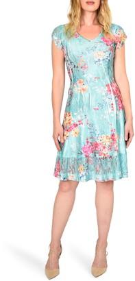 Komarov Floral Crinkle Dress