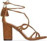Aquazzura Gitana 90mm suede sandals