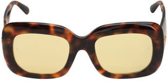 Linda Farrow Lavinia Rectangular Acetate Sunglasses