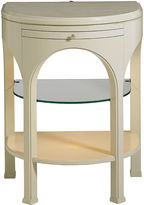 One Kings Lane Ariana 2-Shelf Side Table, Ivory