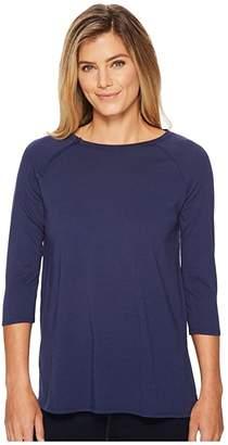 Care+Wear Chest Access Shirt (Navy Blue) Women's T Shirt