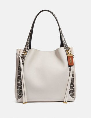 Coach Harmony Hobo In Colorblock With Snakeskin Detail