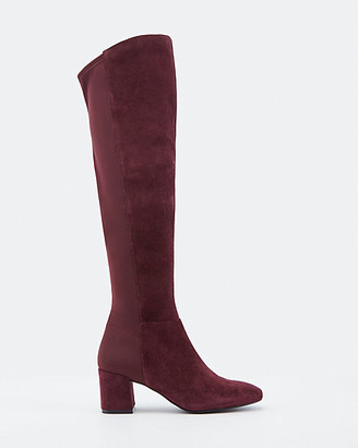 Le Château Suede Almond Toe Knee High Boot