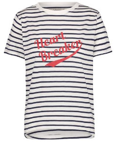 Sugarhill Boutique Mimi Heartbreaker T Shirt - 10 - Blue/White/Red