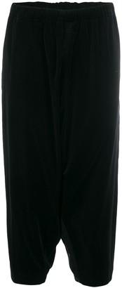 Comme des Garcons dropped-crotch velvet trousers