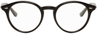 Ray-Ban Black Round Shiny Glasses