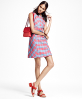 Brooks Brothers Sleeveless Cotton Plaid Dress