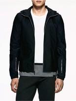 Calvin Klein Platinum Twill Colorblock Hooded Jacket