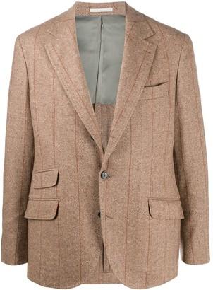 Brunello Cucinelli Cashmere-Wool Blend Tweed Blazer Jacket