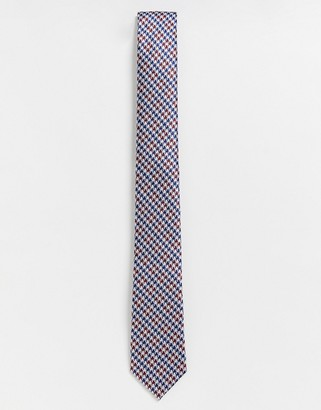 Ben Sherman puppy tooth tie-Red