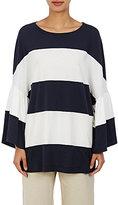 Dries Van Noten Women's Haacke Striped Oversized T-Shirt-White, Navy