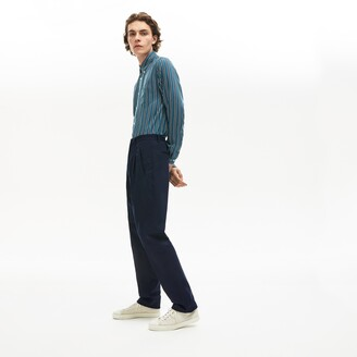 Lacoste Men's Pleat-Front Twill Chinos