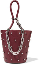 Alexander Wang Roxy Mini Studded Textured-leather Bucket Bag