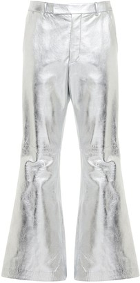 Gucci Metallic Leather Pants