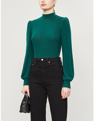 Reformation Kelly turtleneck stretch-knit jumper