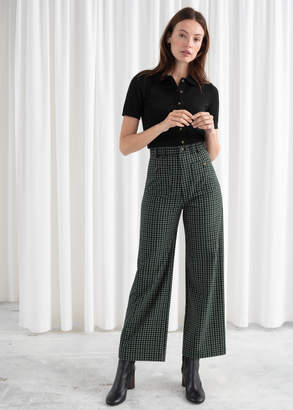 And other stories Kick Flare Plaid Pants