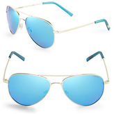 Polaroid 52mm Mirrored Aviator Sunglasses