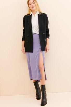 Urban Outfitters Sabrina Lace Trim Midi Slip Skirt