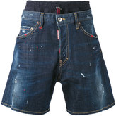 DSQUARED2 elasticated waistband denim shorts - men - Cotton/Polyester/Spandex/Elastane - 44