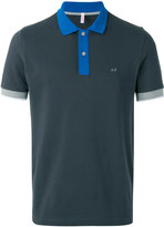 Sun 68 bicolour polo shirt - men - Cotton/Spandex/Elastane - S