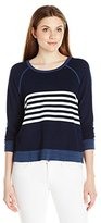 Sundry Women's Stripes Pullover
