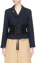 3.1 Phillip Lim Ribbon lacing corset waist double crepe blazer