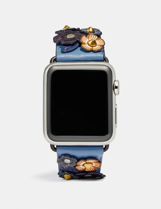 Coach Apple Watch Strap With Tea Rose