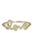 Sydney Evan Yellow Gold Love Ring