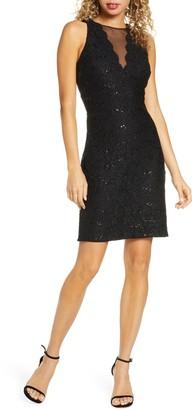 Morgan & Co. Lace & Sequin Cocktail Dress