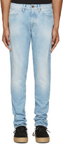 Off-White Blue Brushed Diagonals Jeans