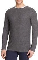Vince Cotton Cashmere Mixed Stitch Crewneck Sweater