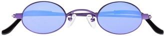 Roberi & Fraud purple Doris oval sunglasses
