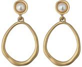 The Sak Large Pearl Doorknocker Earrings