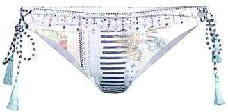 Camilla Beach Shack Lace-Up Tropical-Print Bikini Bottom