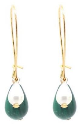 Salome Penelope Malachite 3-In-1 Earrings