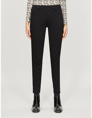 J Brand Paz cropped skinny cotton-blend trousers