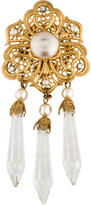 Miriam Haskell Crystal Dangle Brooch