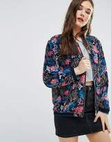 Brave Soul Floral Bomber Jacket