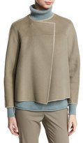 Lafayette 148 New York Odene Reversible Wool Topper Jacket, Cobblestone/Storm