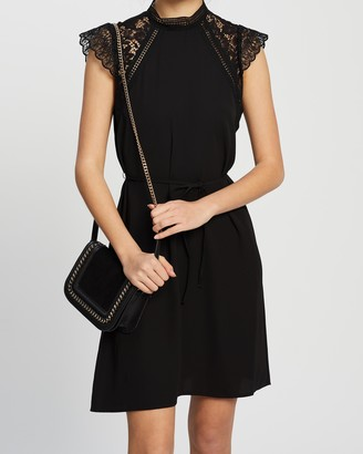 Vero Moda Povla Cap Sleeve Woven Short Dress