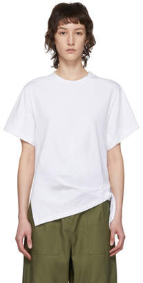 3.1 Phillip Lim White Gathered Ring T-Shirt