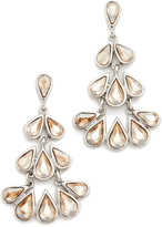 Oscar de la Renta Teardrop Crystal Chandelier Earrings