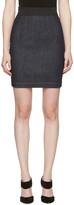 Dolce & Gabbana Navy Denim Miniskirt