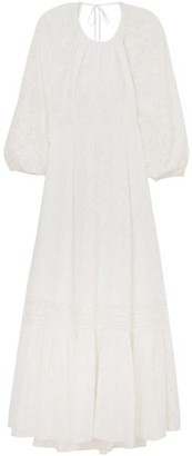 Tanya Taylor Behak Silk-Blend Long-Sleeve Dress