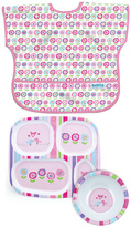 Bumkins Bloom Junior Bib Plate & Bowl Set
