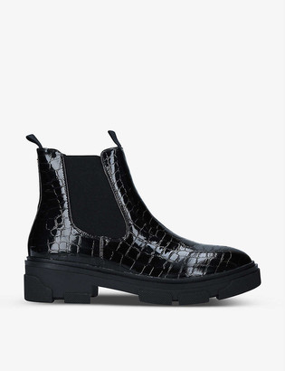 Kg Kurt Geiger Hanger crocodile-embossed leather Chelsea boots