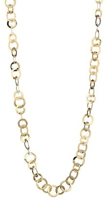 Ippolita Classico Long 18K Yellow Gold Crinkle Link Necklace
