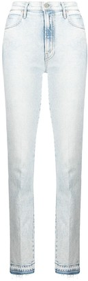 Mother Rascal bleached slit jeans