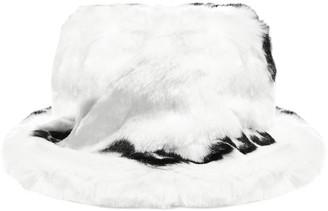 GCDS Logo Faux Fur Hat