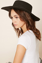 Forever 21 FOREVER 21+ Wide-Brim Straw Boater Hat